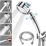 Hight Pressure Chrome Handheld Shower, ARCBLD Detachable Hand Held Showerhead With Stainless Steel Hose and Shower Head Holder,the Perfect Adjustable Replacement Hand Shower Kits