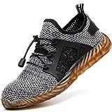 COOU Zapatos de Seguridad para Hombre Mujer Ligeros Comodos Calzado Seguridad Deportivo Puntera de Acero Zapatos de Trabajo