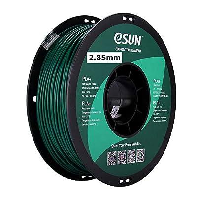 eSUN 3mm Green PLA PRO (PLA+) 3D Printer Filament 1KG Spool (2.2lbs), Actual Diameter 2.85mm +/- 0.05mm, Green, (Pantone 323C)