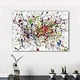 N / A Pintura sin Marco Arte Abstracto de la Pared Pintura de Lienzo Cuero Ligero Figura línea Sala de Estar decoración del hogar ZGQ7054 50x75cm