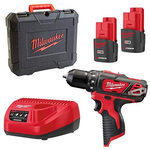Milwaukee 4933451460 Akku-Bohrschrauber 4933451460-PROMOTION M12BDD-152C 2x 12V/1,5Ah Li-Ion, 12 V
