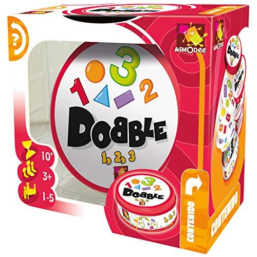 Dobble–Formen und Zahlen (Asmodee DOBCF01ES), Spanisch und Portugiesisch