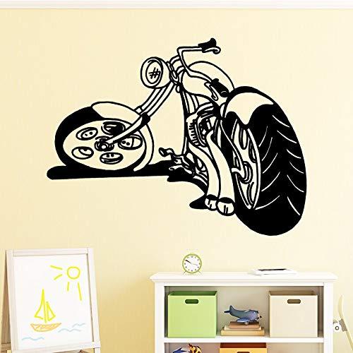 tzxdbh Cool Motorfiets Muursticker Huisdecoratie Accessoires Zelfklevende Muurstickers voor Woonkamer Slaapkamer Vinyl Muursticker 43 * 56CM