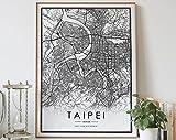 MG global TAIPEI Stadtkarte, Schwarz-Weiß, Druck von