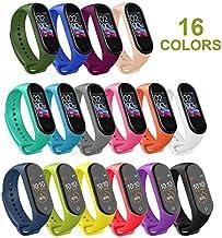 Mardozon Correas para Xiaomi Mi Band 3 / Mi Band 4 Silicona Pulsera de Recambio Brazalete Coloridos Reemplazo (16 Colores)
