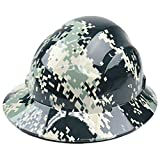 RK Safety RK-HP44-CAMO, Hard Hat Brim Style with 4 Point Ratchet Suspension, 1 EA...