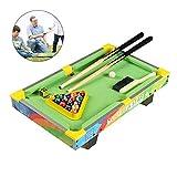 ZY Mesa De Billar Mini Cubierta De Mesa Pool Juego Set, Gran Regalo para Niños Y Niñas