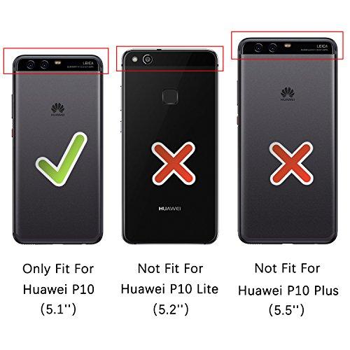 HOOMIL Handyhülle für Huawei P10 Hülle, Premium PU Leder Flip Schutzhülle für Huawei P10 Tasche, Schwarz - 3