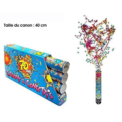 cannon à Confettis 70 ans Anniversaire