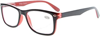 Eyekepper Readers Spring-Hinges Quality Classic Vintage Style Reading Glasses Black-Red +0.5