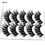 3D Professional Echthaarwimpern Demi Wispies, Künstliche Wimpern Set, Wiederverwendbare Kunstfaser Magnetische Magnet Wimpern, 5 Magneten Magnetic False Eyelashes