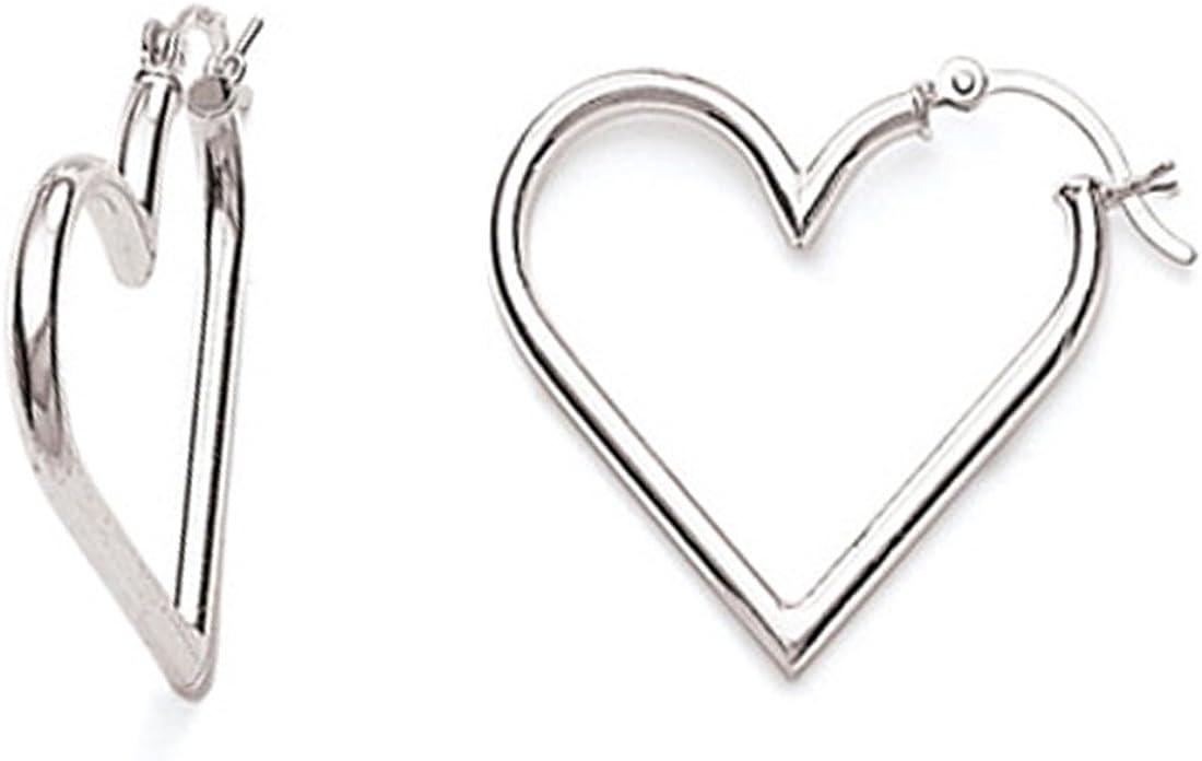 Outlet ☆ Free Shipping Ritastephens Sterling Silver Heart Hoops Minneapolis Mall Tubular Hoop Earrings