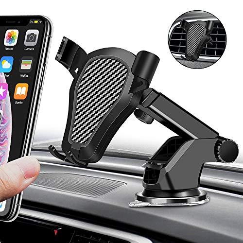 tonitott Handyhalterung Auto 2 in 1 Handyhalter fürs Auto mit 360°Drehbar Kugelgelenk Gel Saugnapf&Teleskoparm KFZ Handy Halterung für iPhone XS MAX XR 8, Samsung S10/S9, Huawei, LG usw
