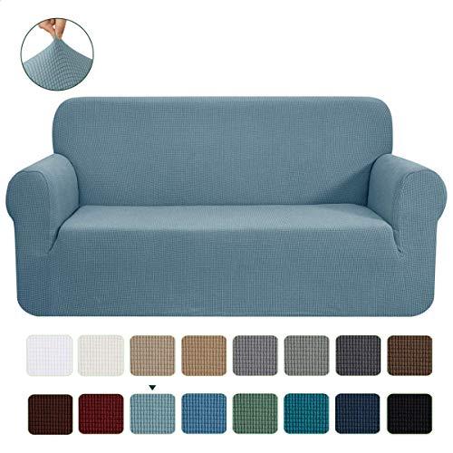 CHUN YI 1-Stück Jacquard Sofaüberwurf, Sofaüberzug, Sofahusse, Sofabezug für Sofa, Couch, Sessel, mehrere Farben (Himmelblau, 2-sitzer)