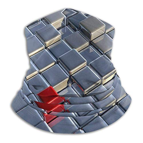 Neck Warmer Cubes Training Balaclava for Men Women Black