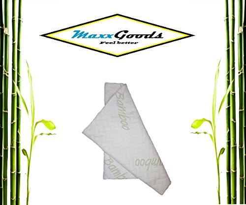 MaxxGoods Bambus - Kissenbezug - hautfreundlich und antiallergisch, 40 x 80 cm