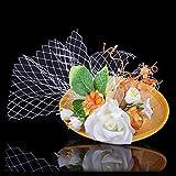 ファッション的な写真館の写真撮影のウェディングベールの部品、優雅で美しい紗の花の髪飾り、新婦の結婚式の髪飾りの礼帽 (E)