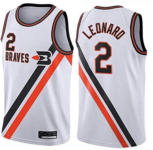 FEZBD Jerseys De Baloncesto para Hombres, NBA Los Angeles Clippers # 2 Leonard Classic Transpirable Chaleco Comodidad Camiseta Sin Mangas,Blanco,M170~175cm