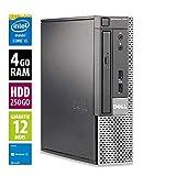 Dell Optiplex 7010 USFF - Core i5-3470 @3.20GHz - 4Go RAM - 250Go HDD - DVD-RW- Windows 10 Home...