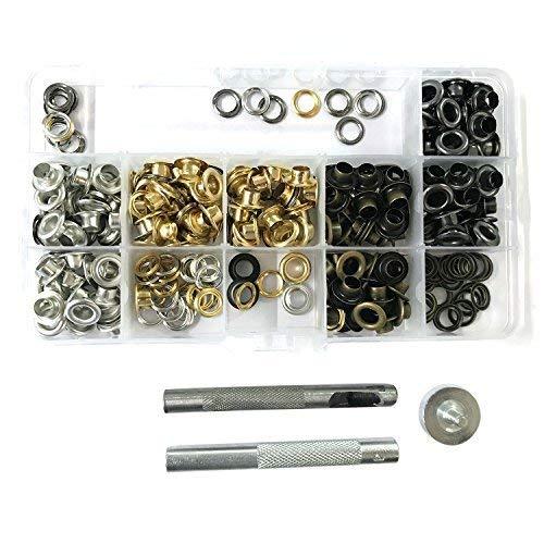 100x oeillets 4-14mm 3pcs outil de poinçonnage rivets pour textile bannières