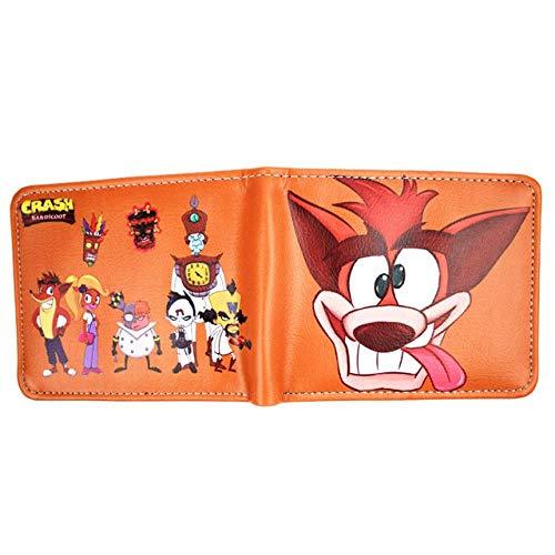 Portefeuille Crash Wolf Wallet Classic spel portemonnee heren wallet cartoon munttas