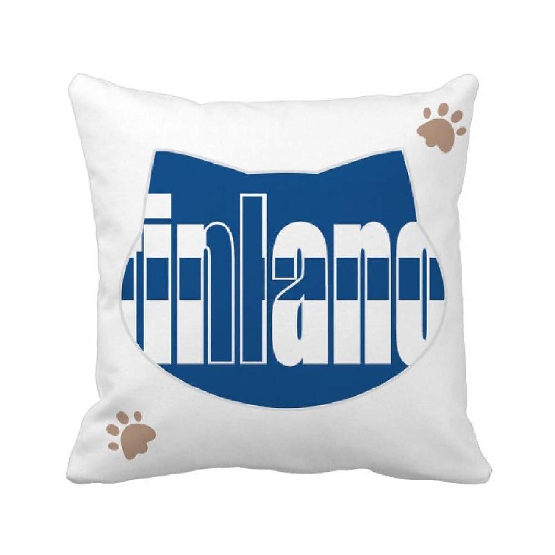 信条解読する短命フィンランド国の旗の名 枕カバーを放り投げる猫広場 50cm x 50cm