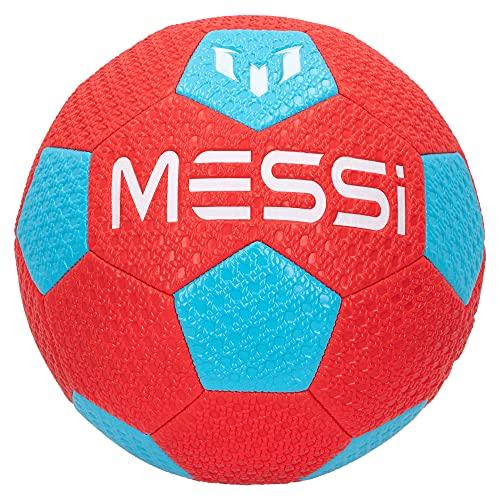 Messi Training System - Balón fútbol, balón talla 5, balón de fútbol Messi, balón Messi, balón fútbol niños tamaño 5, deporte al aire libre, pista fútbol, tierra, césped y arena (48080)