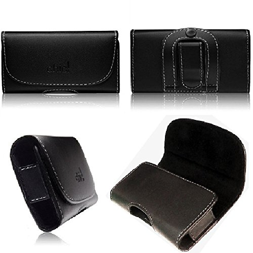 tag-24 Forcell Classic Handytasche für Ulefone Future Gürteltasche Quertasche Seitentasche Schutzhülle Handycase mit Gürtelclip und Gürtelschlaufe in schwarz