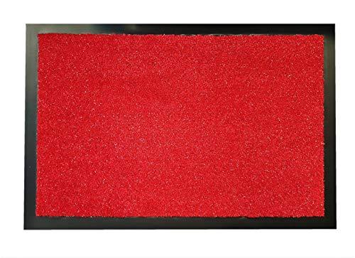Glitzzi - Felpudo (40 x 60 cm, lavable, antideslizante, fácil de limpiar,...