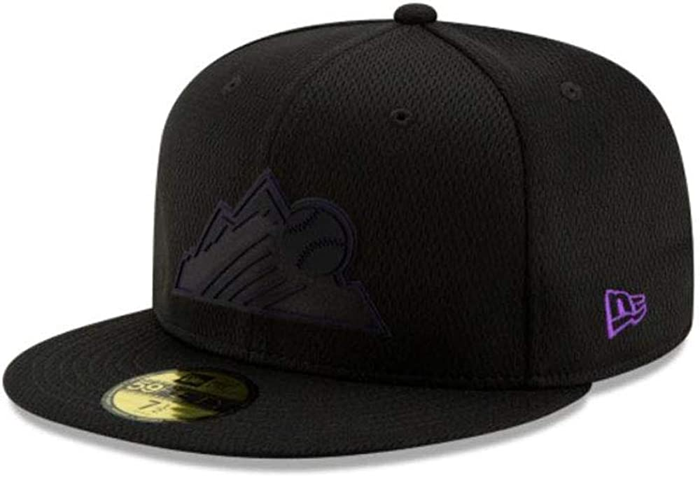 New Era Colorado Rockies 2018 MLB Clubhouse 59Fifty Fitted Hat Grey Flat Bill Cap