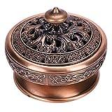 Incienso pequeño de Lotus Buda Incienso Bronce Vintage Quemador de Incienso carbón Estufa Soporte...
