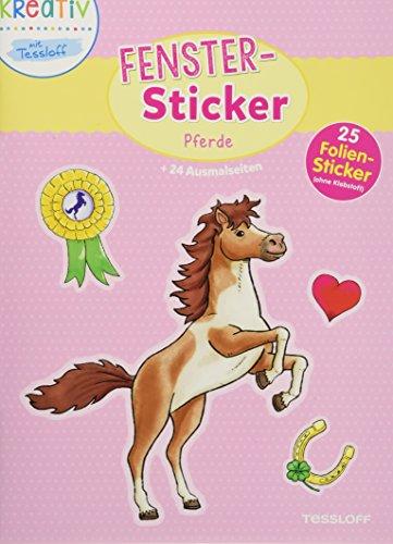 Fenster-Sticker Pferde: 24 Ausmalseiten, 25 Folien-Sticker