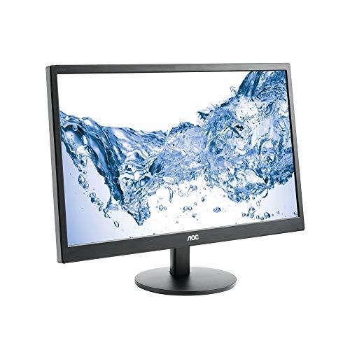 AOC E2470SWH 59,9 cm (23,6 Zoll) Monitor (VGA, DVI, TN Panel, HDMI, 1ms Reaktionszeit, 1920 x 1080, 60 Hz) schwarz