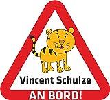 INDIGOS UG® - Katze - 15x14 cm - für Kinder, Auto, KfZ, Heckscheibe - individuell bedruckbar thumbnail