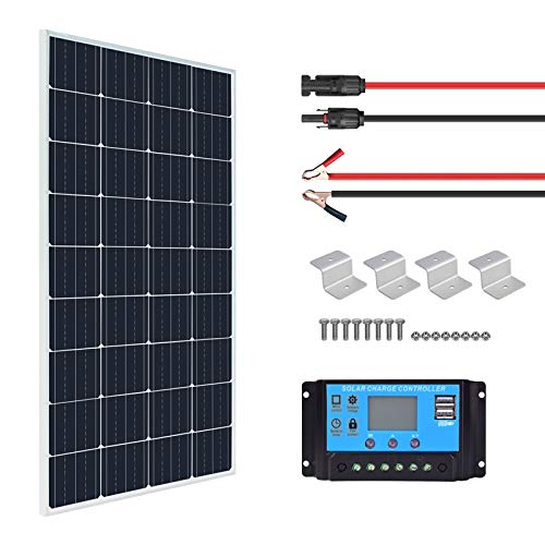 XINPUGUANG - Kit de panel solar de 150 W y 12 v, módulo fotovoltaico mono, controlador de carga solar de 20 A para autocaravana, yate, exterior, jardín, luz (150)