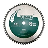TOMAX 10-Inch 60 Tooth ATB Fine Finish Saw Blade...