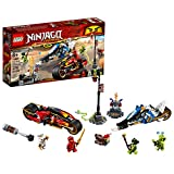 LEGO NINJAGO Legacy Kai's Blade Cycle & Zane's Snowmobile 70667 Building Kit (376 Pieces)
