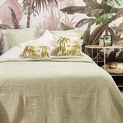 La Mallorquina - Colchas de Piqué Colores Lisos - Colchas de Algodón - Suave y Ligera - Colcha de Cama (Cama 135 cm - 230x260cm, Palma - Verde): Amazon.es: Hogar
