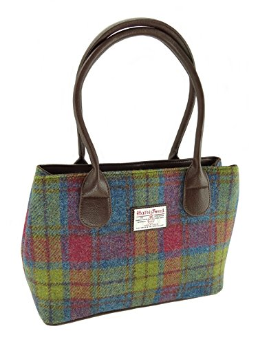 Glen Appin - Handbag - Harris Tweed Handbags - Multi Colour Check Harris Tweed Cassley Bag - Default Title