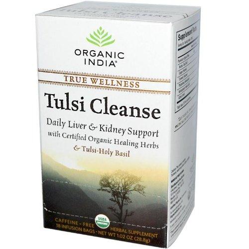 Organic India Tulsi Wellness Cleanse Tea, 18 Count