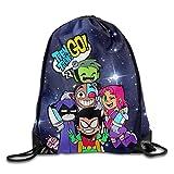 Setyserytu Sporttasche mit Kordelzug, Sportrucksack, Reiserucksack, Teen Titans Go Comedy Adventure Drawstring Backpack Sack Tasche