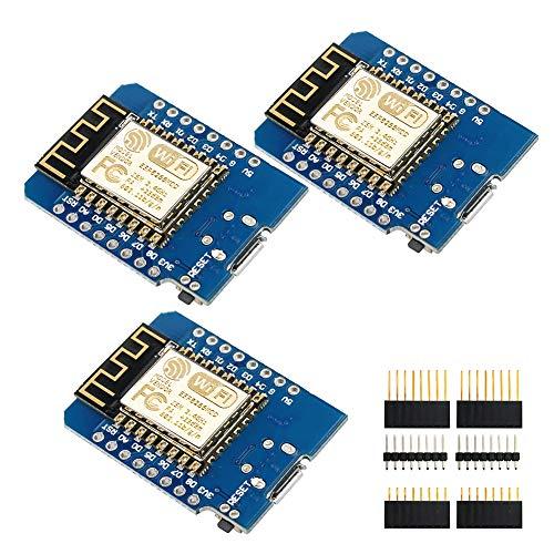 IZOKEE 4M Bytes Módulo Board de Desarrollo Internet WLAN WiFi Base en ESP8266 ESP-12F para Arduino (3PCS)