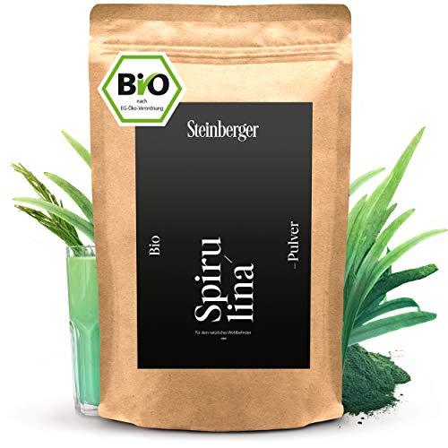 Spirulina Pulver bio 1000g   100% reine Spirulina-Alge   Im Standbeutel laborgeprüftes und 100% naturreines Spirulina-Powder
