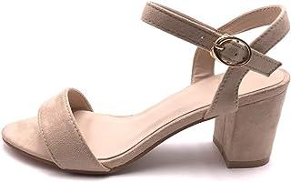a7e08453cb45fb Angkorly - Chaussure Mode Sandale Escarpin Petits Talons Plateforme Ouvert  Femme Simple Basique Classique lanière Talon