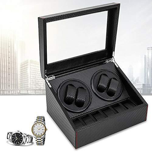 ROMYIX 4 + 6 Uhrenbeweger Carbon Uhrenbeweger Automatic Watches Box