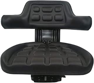 Concentric Black Waffle Style Universal Tractor Suspension Seat, Multi-Angle Base for Ford/New Holland 2N, 8N, 9N, NAA, Jubilee