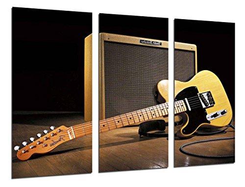 Cuadros Cámara Cuadro Fotográfico Musica, Instrumento Guitarra Fender Stratocaster, Rock, Multicolor, 97 x 62 cm XXL