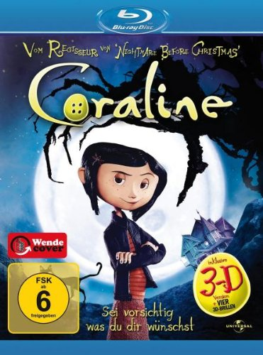 Coraline (inkl. 3D Version + vier 3D-Brillen) [Blu-ray]