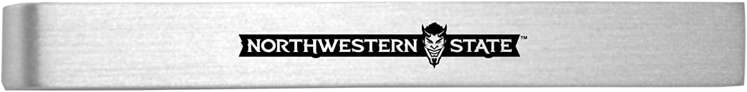 Northwestern Limited time sale University-Brushed Metal Washington Mall Clip-Silver Tie