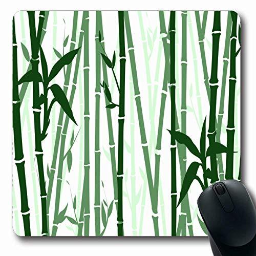 Stabiler Maus Mat Ultradünner Mousepad,Mousepads Für Computer Exotisches Grün Asien Bambus Muster Natur Schwarz Abstrakt Asian Branch Design Längliche Form Rutschfest Oblong Gaming Mouse Pad